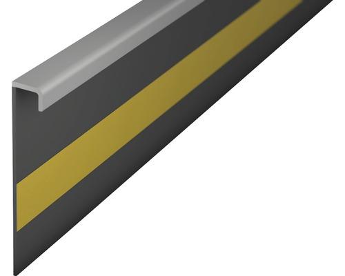 Kobercová soklová lišta stříbrošedá 50mm; 2,5m; bez drážky; nalepovací
