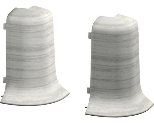 Vnější rohy ke kanálkové lište jasan bílý 2ks