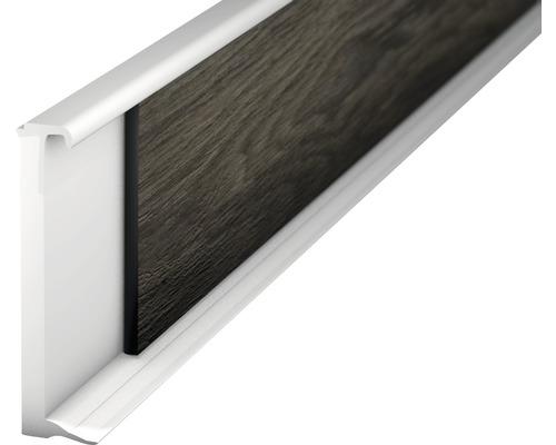 Vlepovací lišta k design podlaze bílá 2,0-3,5mm;2,5m;58mm