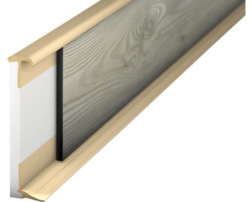 Vlepovací lišta k design podlaze béžová 2,0-3,5mm;2,5m;58mm