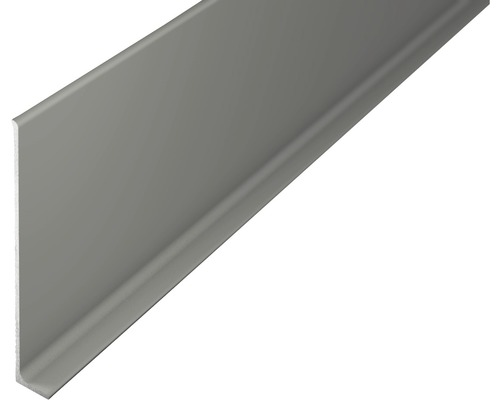 ALU soklová lišta 2,7m 80mm titán bez děrování.