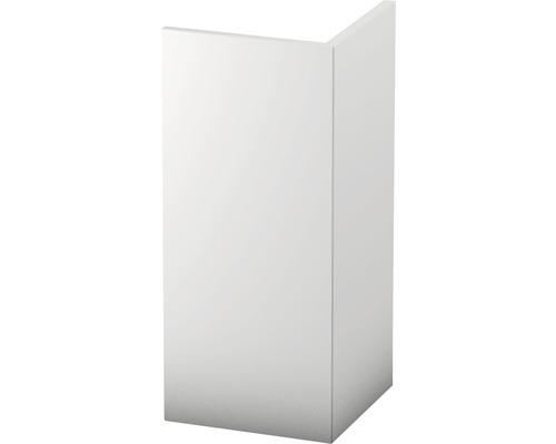 Rohová lišta 20x20mm; bílá; 2,5m tvrzené PVC