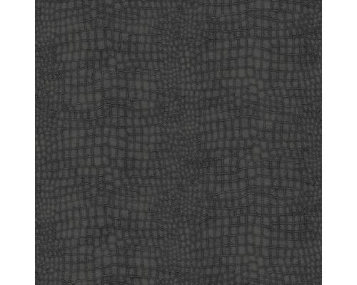 Vliesová tapeta Skin Crocodile, černá, 10,05 x 0,52 m
