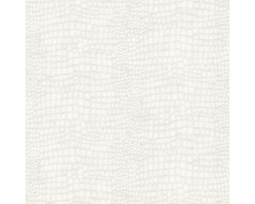 Vliesová tapeta Skin Crocodile, bílá, 10,05 x 0,52 m