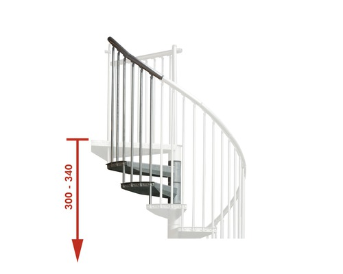 Nastavovací prvek pro schody Pertura Zenobia Ø 120 cm 2 stupně