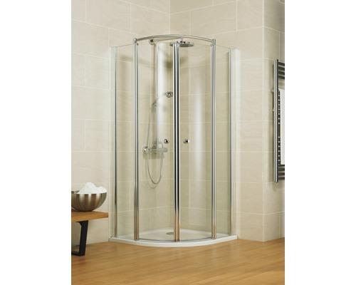 Sprchový kout Schulte Garant Bella Lux II R550 90x80 cm čiré sklo barva profilu chrom