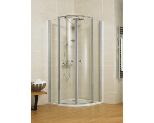 Sprchový kout Schulte Garant Bella Lux II R550 90x100 cm čiré sklo barva profilu hliník