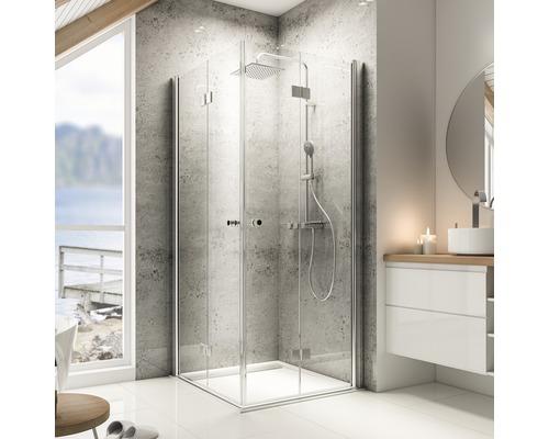 Sprchový kout Schulte Garant 90x80 cm průhledné sklo hliník