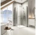 Sprchový kout Schulte Garant 80x90 cm průhledné sklo hliník