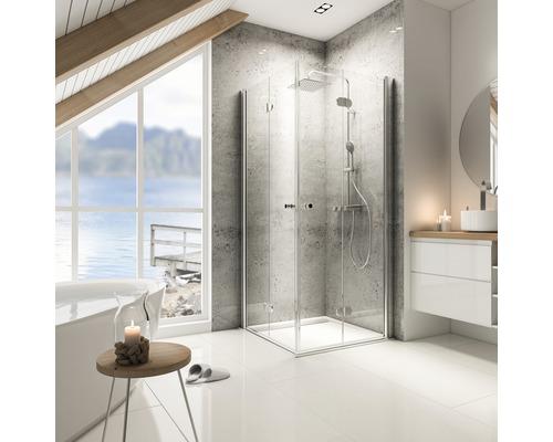 Sprchový kout Schulte Garant 90x80 cm průhledné sklo chrom