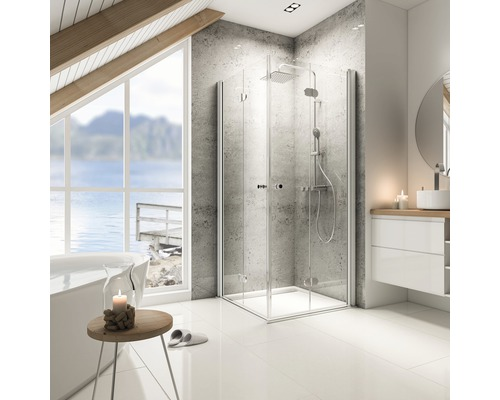 Sprchový kout Schulte Garant 100x100 cm průhledné sklo hliník