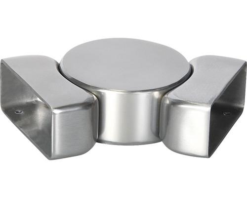 Horizontální kloub pro madlo zábradlí Pertura 60 x 25 mm 0 - 90°, hliník (83)