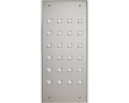 Plechová výplň zábradlí Pertura 750 x 930 mm, nerez (76)