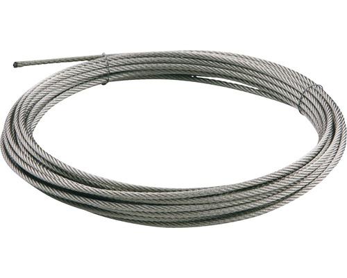 Ocelové lanko zábradlí Pertura Ø 4 mm, 25 m, nerez (67)