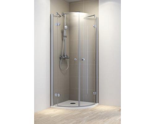 Sprchový kout Schulte MasterClass R550 90x90 cm čiré sklo barva profilu chrom dvoukřídlé dveře