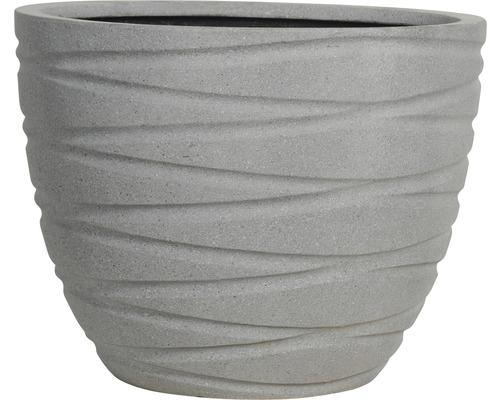 Květináč umělý kámen 53x43 cm šedý granit