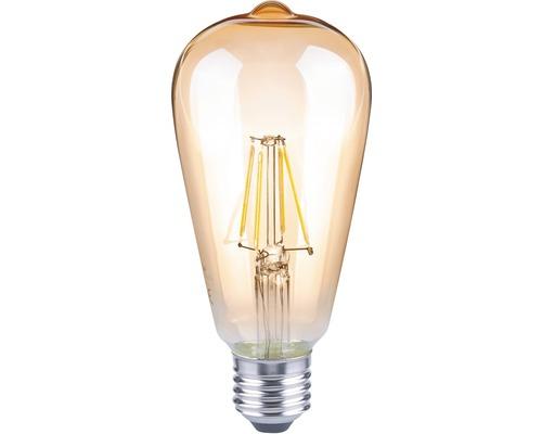 LED žárovka FLAIR Vintage 4W/E27 amber ST64
