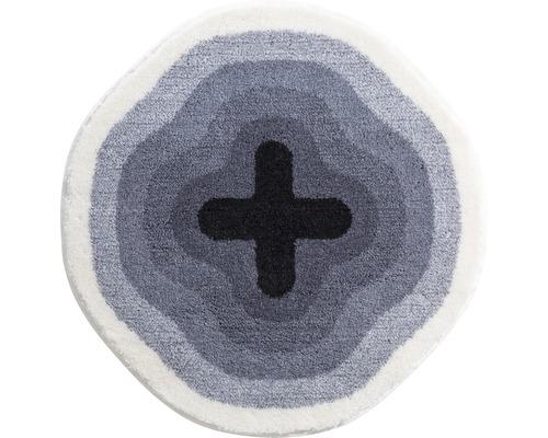 Koupelnová předložka KARIM Ø 90 cm šedá