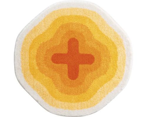 Koupelnová předložka KARIM Ø 90 cm žlutá