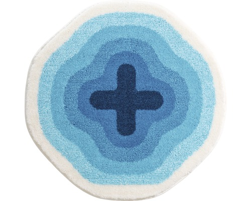 Koupelnová předložka KARIM Ø 90 cm modrá