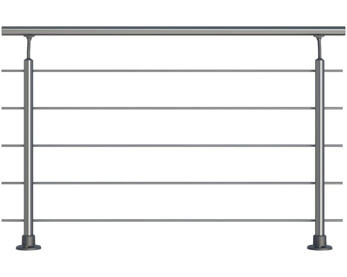 Hliníkový zábradlový set Pertura pro montáž do podlahy