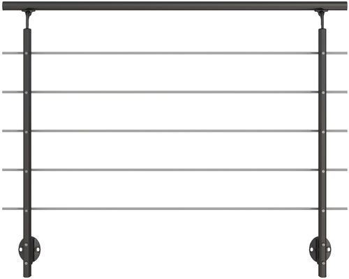 Zábradlový set Pertura 1500 mm pro postranní montáž, antracit (17)