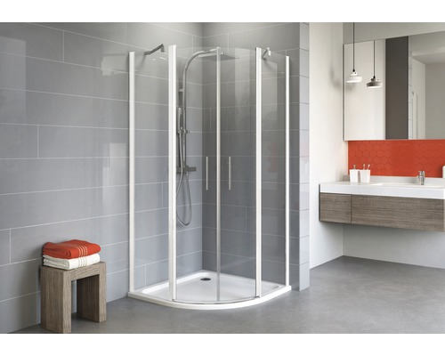 Sprchový kout Schulte Alexa Style 2.0 R550 80x90 cm čiré sklo alpská bílá