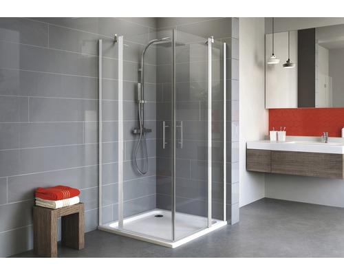 Sprchový kout Schulte Alexa Style 2.0 80x80 cm průhledné sklo alpská bílá
