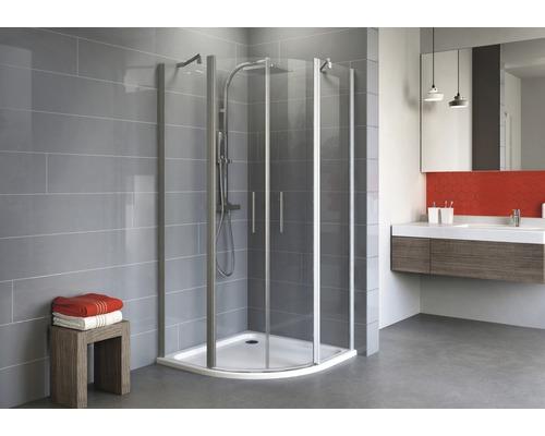 Sprchový kout Schulte Alexa Style 2.0 R550 80x90 cm čiré sklo hliník
