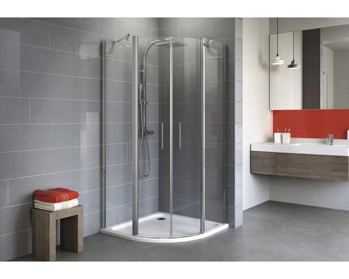 Sprchový kout Schulte Alexa Style 2.0 R550 80x90 cm čiré sklo chrom