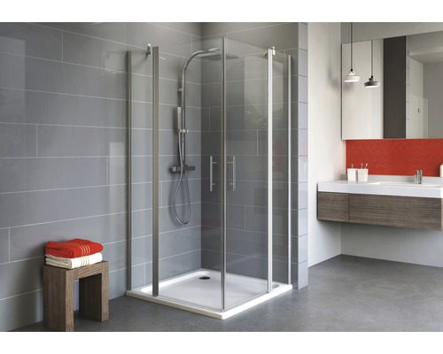 Sprchový kout Schulte Alexa Style 2.0 90x90 cm průhledné sklo hliník