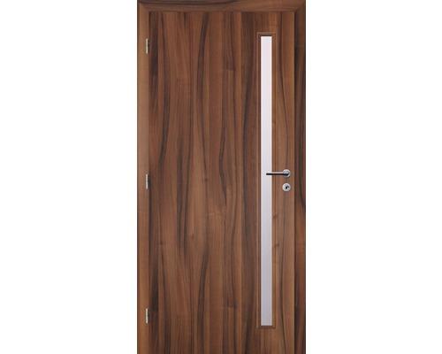 Interiérové dveře Solodoor Zenit 20 prosklené 80 L fólie ořech (VÝROBA NA OBJEDNÁVKU)