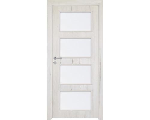 Interiérové dveře Colorado 5 prosklené 60 L dub sněžný (VÝROBA NA OBJEDNÁVKU)