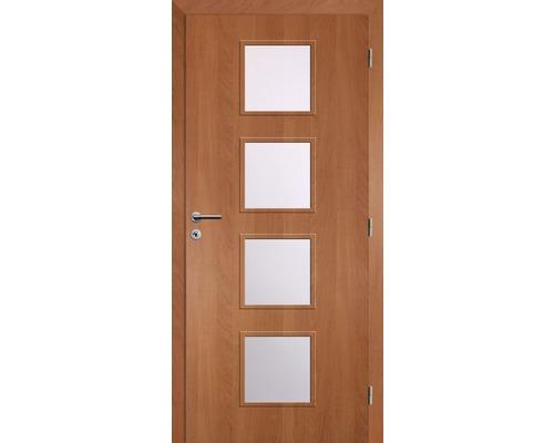 Interiérové dveře Solodoor Zenit 23 prosklené 60 P fólie olše (VÝROBA NA OBJEDNÁVKU)