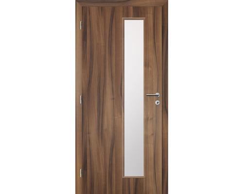 Interiérové dveře Solodoor Zenit 22 prosklené 70 L fólie ořech (VÝROBA NA OBJEDNÁVKU)
