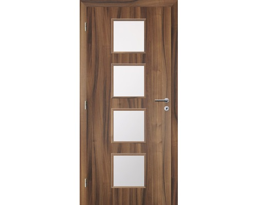 Interiérové dveře Solodoor Zenit 23 prosklené 80 L fólie ořech
