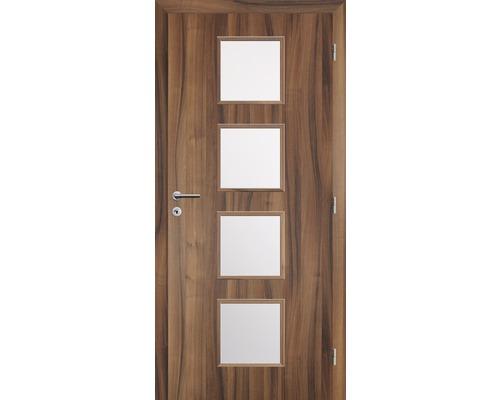 Dveře Zenit XXIII prosklené, 80 P, fólie ořech