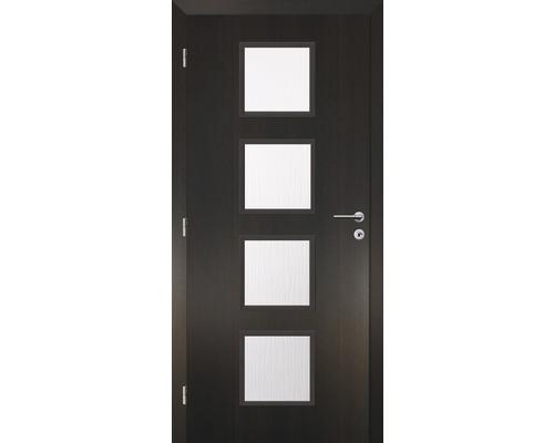 Interiérové dveře Solodoor Zenit 23 prosklené 90 L fólie wenge (VÝROBA NA OBJEDNÁVKU)