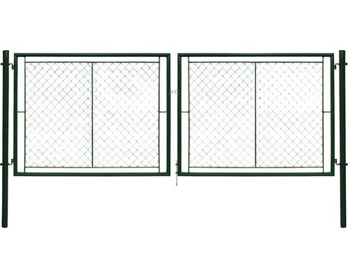 Brána PILECKÝ Ideal 360 x 145 cm dvoukřídlá zelená vč. ok pro visací zámek