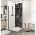 Zadní stěna sprchového koutu Schulte Decodesign dekor kámen obkladový kámen antracit 100x210 cm
