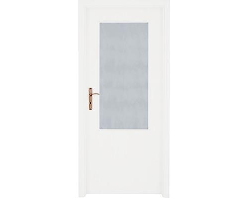 Interiérové dveře 2/3 prosklené 90 L bílé (VÝROBA NA OBJEDNÁVKU)