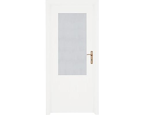 Interiérové dveře 2/3 prosklené 80 P bílé
