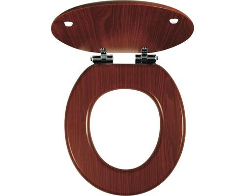 Záchodové prkénko Novaservis Lyra ořech dýhované dřevo Soft Close
