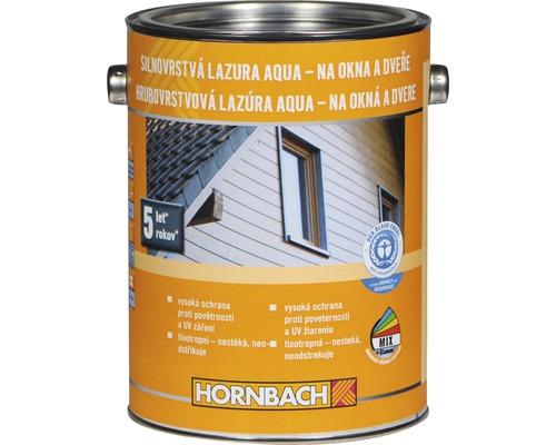 Silnovrstvá lazura na vodní bázi Hornbach 2,5 l bezbarvá