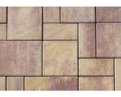 Zámková dlažba betonová Citytop Elegant kombi 6 cm triomix podzim