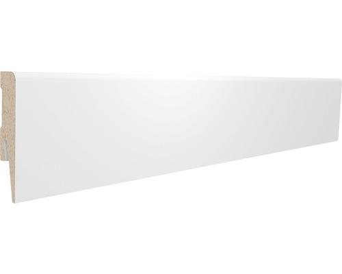 Podlahová lišta MDF Prestige 17 x 80 x 2400 mm bílá