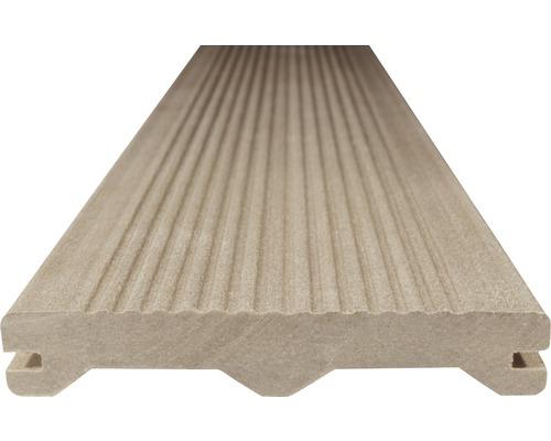 Terasové prkno WPC Woodplastic Ambiente 23 x 137 x 3000 mm světle hnědé