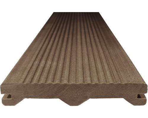 Terasové prkno WPC Woodplastic Ambiente 23 x 137 x 2000 mm tmavě hnědé