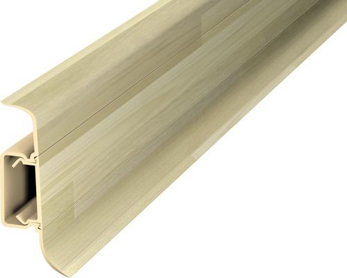 Kanálková lišta KSL50 50x22mm; 2,5m Ořech oliva; středový kabel. kanál