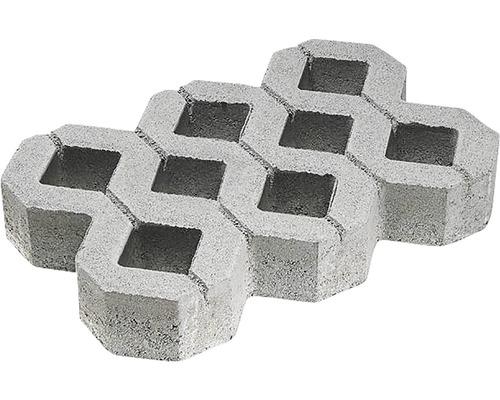 Zatravňovací dlažba betonová 60 x 40 x 8 cm šedá